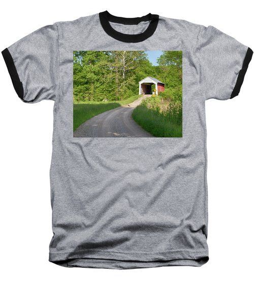Baseball T-Shirt featuring the photograph Bowser Ford Covered Bridge Lane by Harold Rau