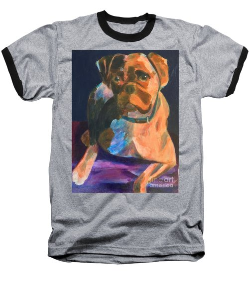 Baseball T-Shirt featuring the painting Boxer by Donald J Ryker III