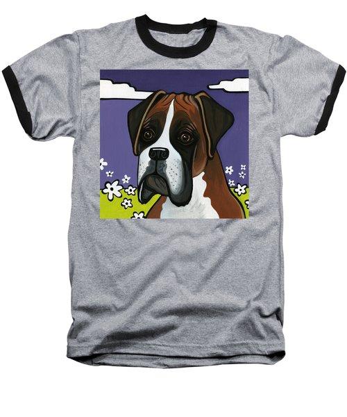 Boxer Baseball T-Shirt by Leanne Wilkes