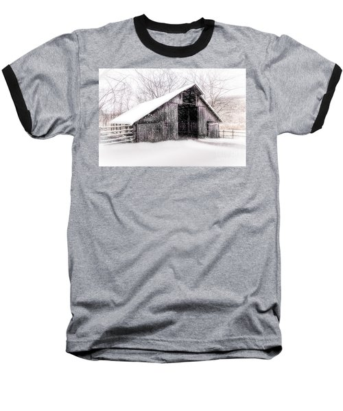 Boxley Snow Barn Baseball T-Shirt
