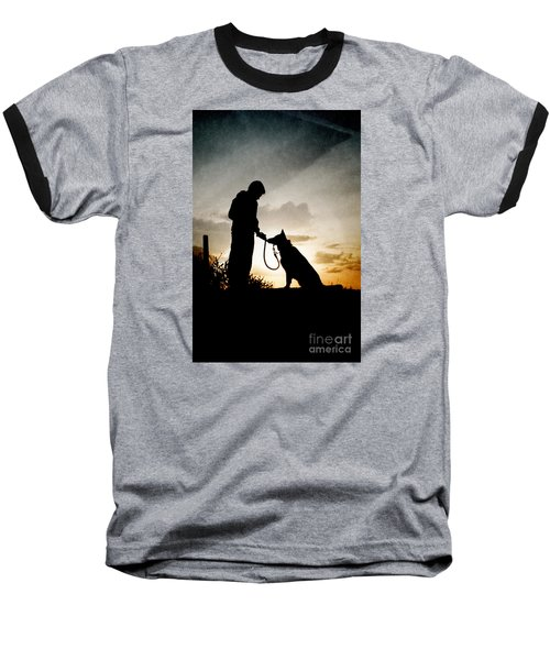 Boy And His Dog Baseball T-Shirt