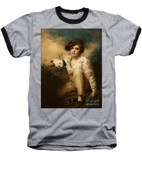 Boy And Rabbit Baseball T-Shirt