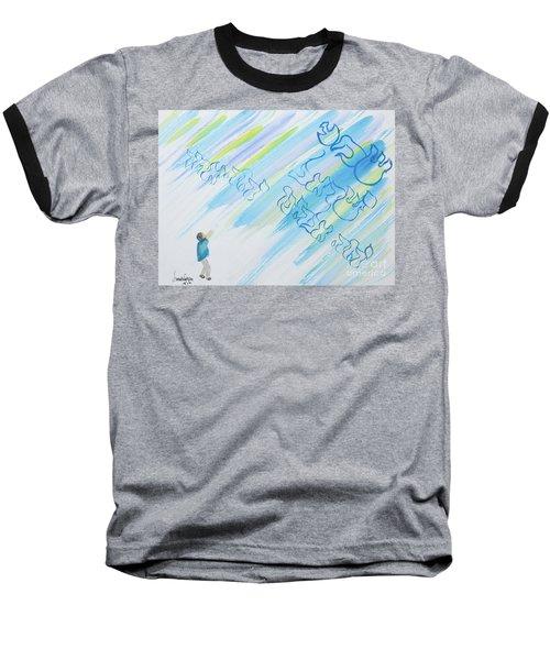 Boy And Shma Shema Baseball T-Shirt
