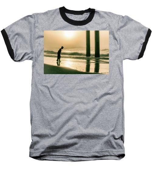 Baseball T-Shirt featuring the photograph Boy At Sunrise In Alabama  by John McGraw