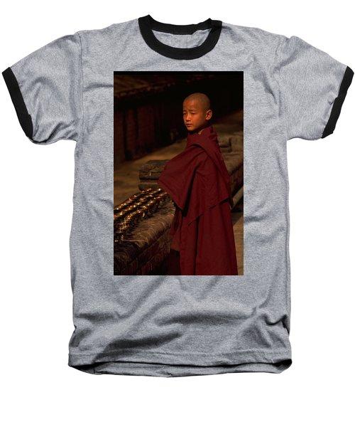 Boy Buddhist In Bodh Gaya Baseball T-Shirt
