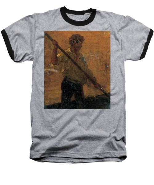 Baseball T-Shirt featuring the painting Boy In A Punt by Henry Scott Tuke
