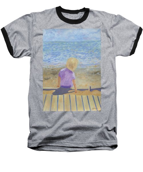 Boy Lost In Thought Baseball T-Shirt