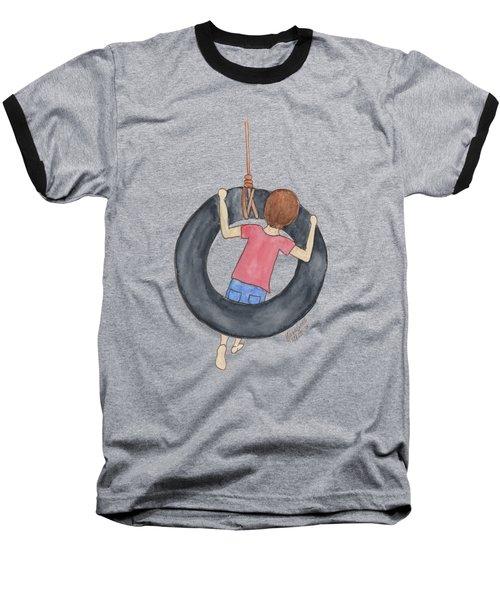 Boy On Swing 1 Baseball T-Shirt