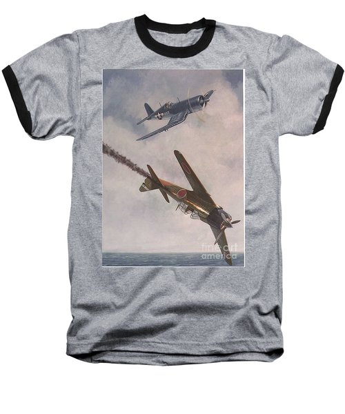 Baseball T-Shirt featuring the painting Boyington Christmas by Paul Clinkunbroomer