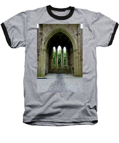 Boyle Abbey In Ireland 2 Baseball T-Shirt by Michelle Joseph-Long