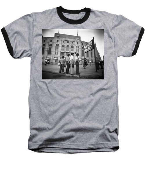 Boys Staring At Yankee Stadium Baseball T-Shirt