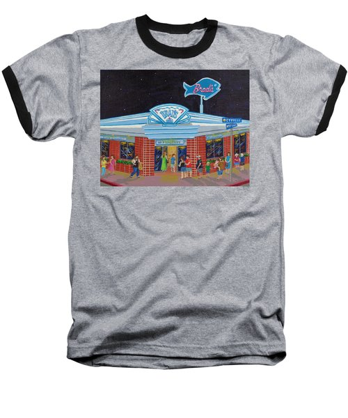 Baseball T-Shirt featuring the painting Brad's Pismo Beach California by Katherine Young-Beck