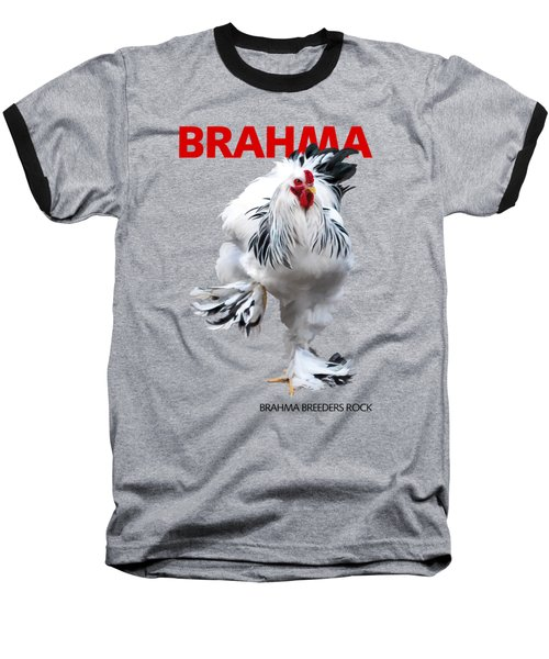 Brahma Breeders Rock Red Baseball T-Shirt