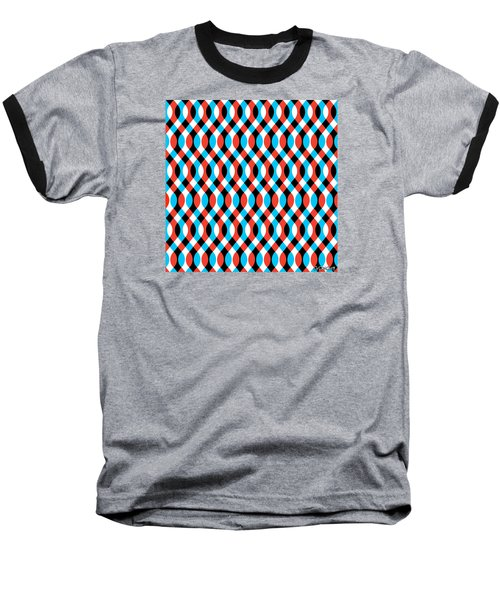 Brain Waves - Blue Baseball T-Shirt