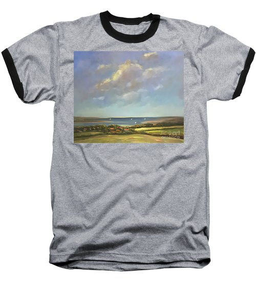 Brancaster Staithes, Norfolk Baseball T-Shirt by Genevieve Brown