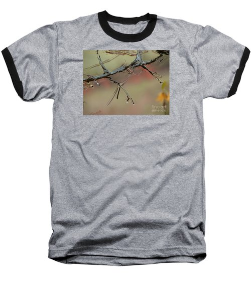 Branch With Water Abstract Baseball T-Shirt by Craig Walters