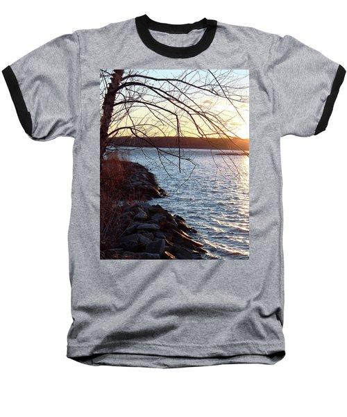 Late-summer Riverbank Baseball T-Shirt