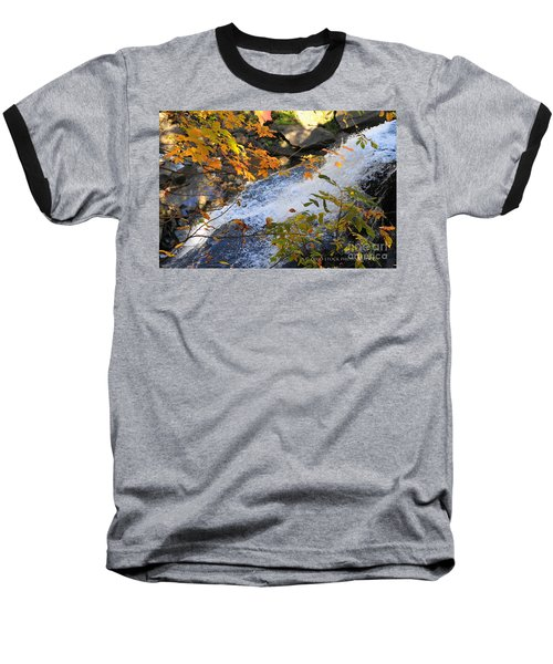 D30a-18 Brandywine Falls Photo Baseball T-Shirt