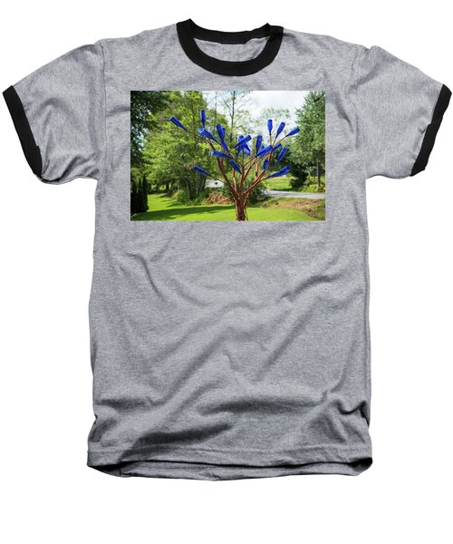 Brass Tree, Blue Bottle Leaves Baseball T-Shirt