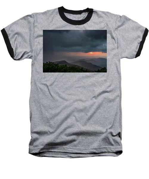 Baseball T-Shirt featuring the photograph Brasstown Bald Sunset by Michael Sussman