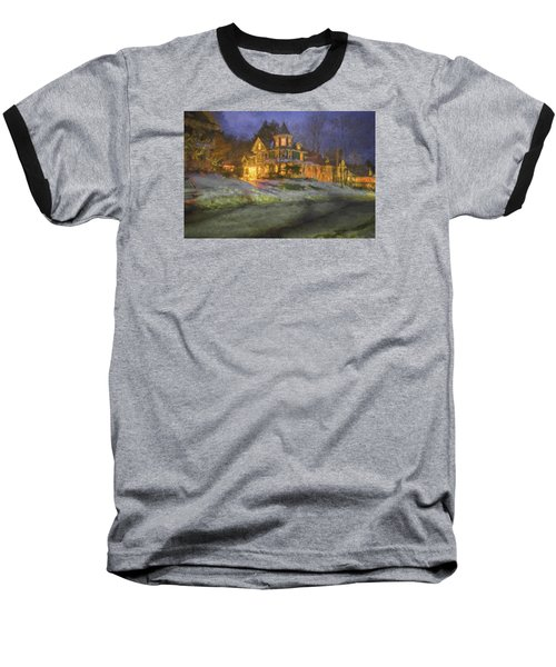 Brattleboro Victorian II Baseball T-Shirt by Tom Singleton