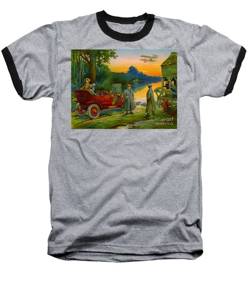 Brave New World 1910 Baseball T-Shirt by Padre Art