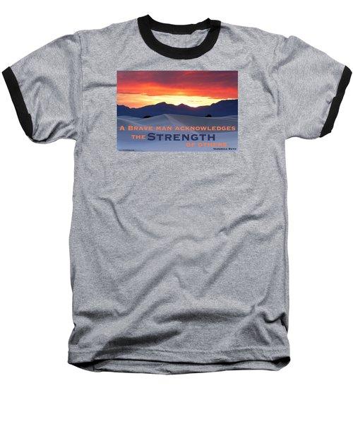 Brave Thoughts Baseball T-Shirt by David Norman