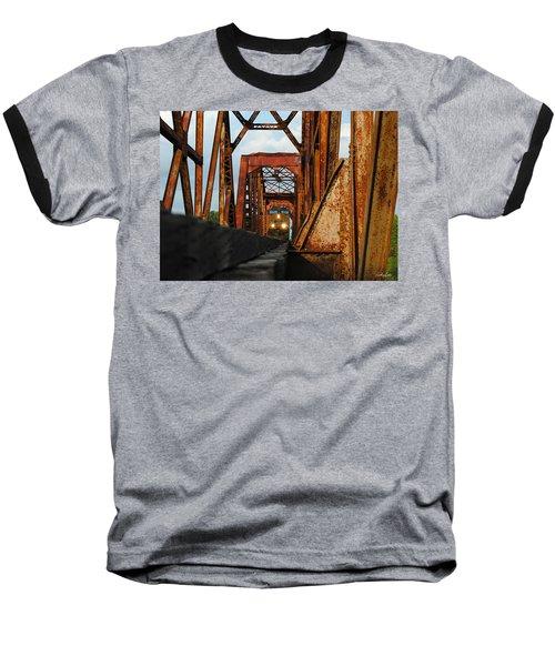 Brazos River Railroad Bridge Baseball T-Shirt