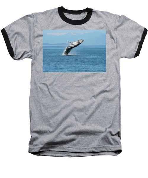 Breaching Humpback Whales Happy-3 Baseball T-Shirt