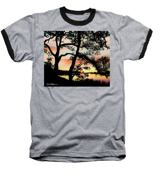 Break Of Dawn Baseball T-Shirt by Tim Fitzharris