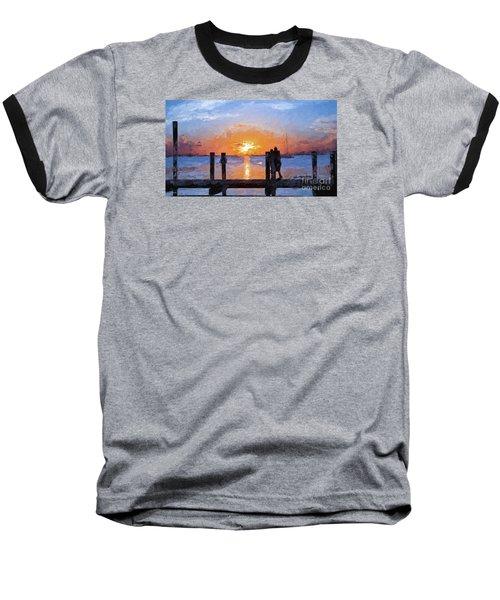 Break On Through  Baseball T-Shirt by Judy Kay