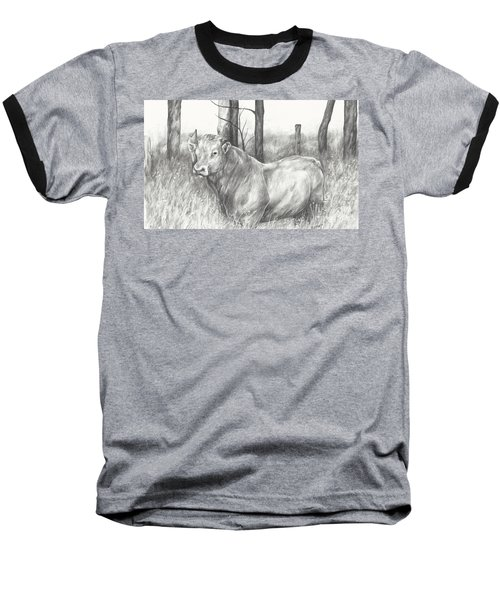 Baseball T-Shirt featuring the drawing Breaker Study by Meagan  Visser
