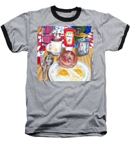 Breakfast At The Deli Baseball T-Shirt by Lisa Boyd