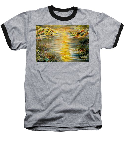 Baseball T-Shirt featuring the painting New Horizons by Alfred Motzer