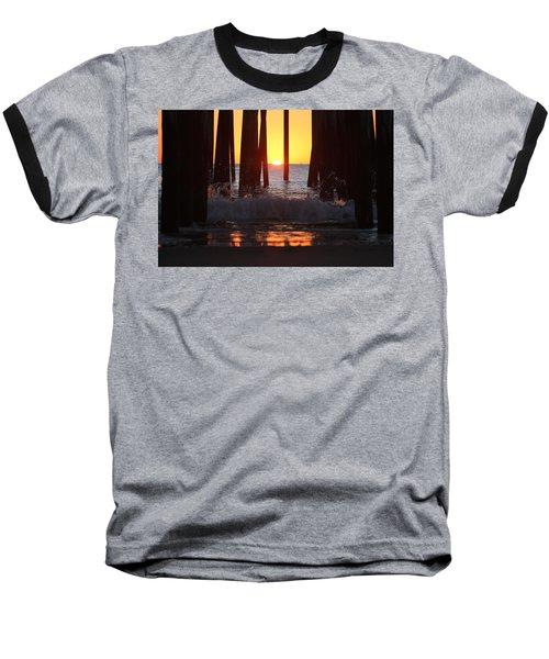 Breaking Dawn At The Pier Baseball T-Shirt