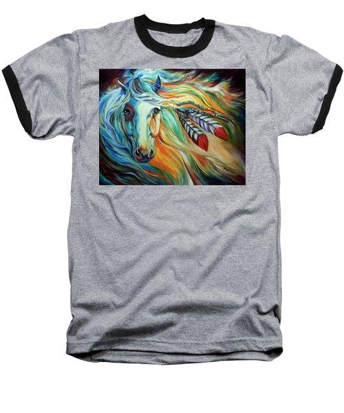 Breaking Dawn Indian War Horse Baseball T-Shirt