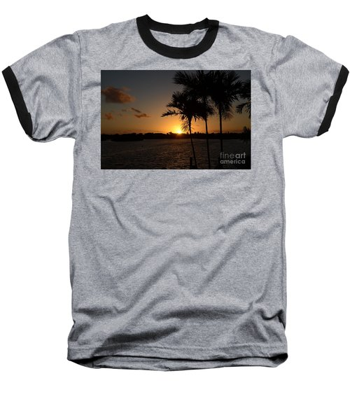 Baseball T-Shirt featuring the photograph Breaking Dawn by Pamela Blizzard