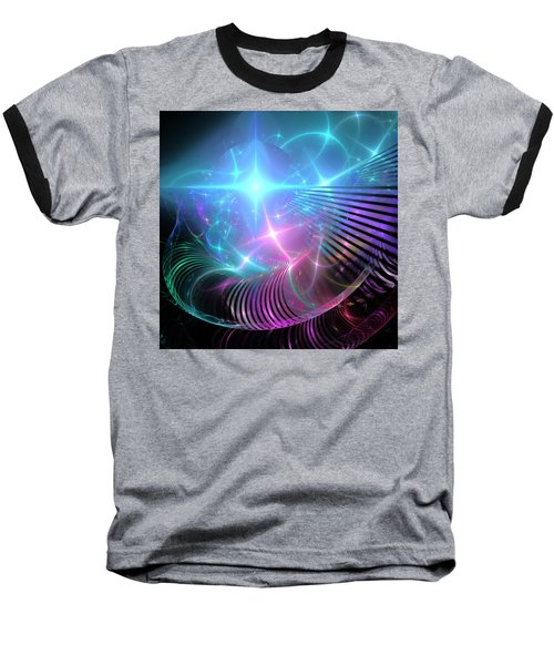 Baseball T-Shirt featuring the digital art Breaking Through The Portal by Svetlana Nikolova