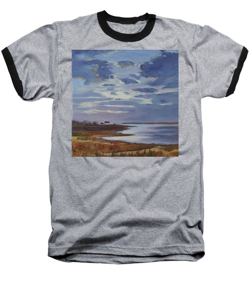Breaking Up The Clouds Baseball T-Shirt by Trina Teele