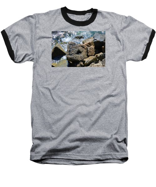 Baseball T-Shirt featuring the photograph Breakwall by Steed Edwards