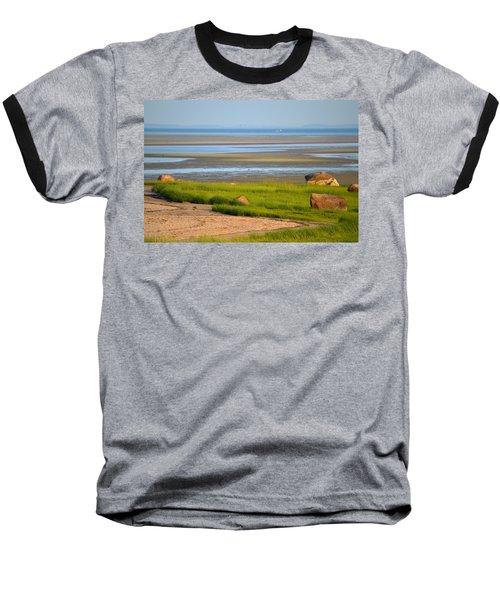 Breakwater Beach At Low Tide Baseball T-Shirt