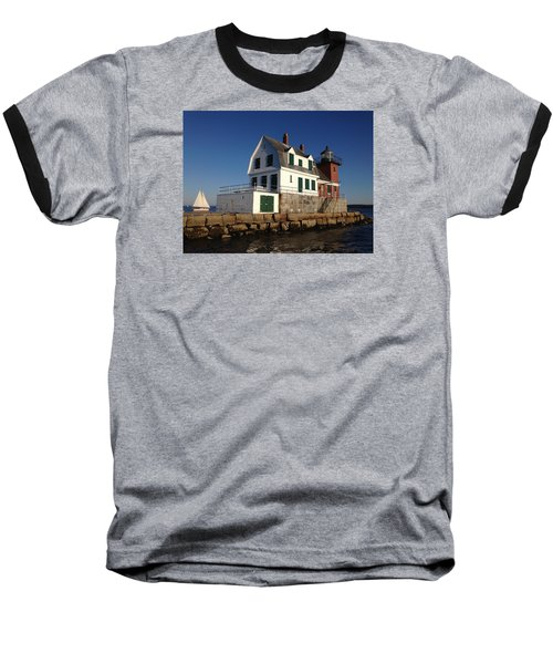 Breakwater Lighthouse Baseball T-Shirt by Jewels Blake Hamrick