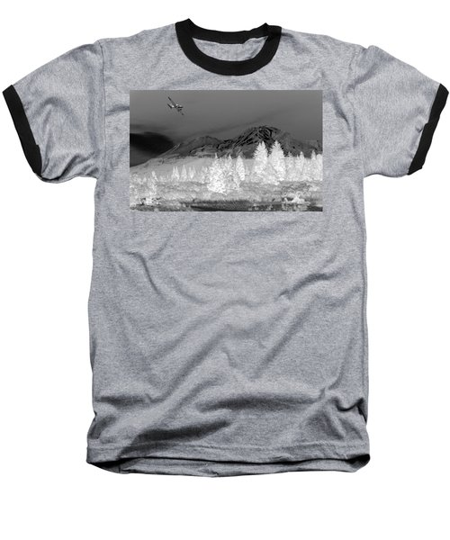 Breathtaking In Black And White Baseball T-Shirt by Joyce Dickens