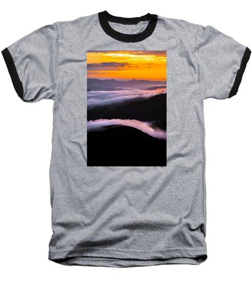 Breatthtaking Blue Ridge Sunrise Baseball T-Shirt
