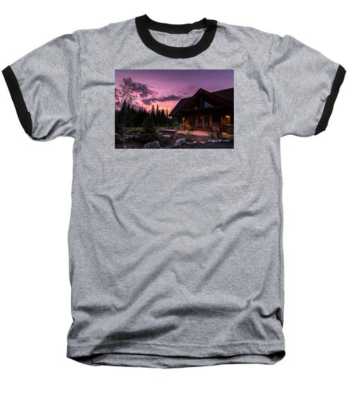 Breck Nordic Lodge Sunset Baseball T-Shirt
