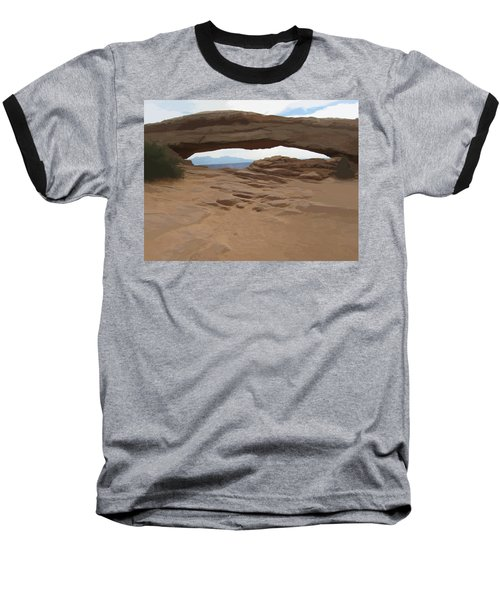 Baseball T-Shirt featuring the digital art Breezy Bridge by Gary Baird