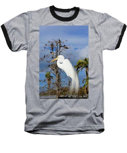 Breezy Egret Baseball T-Shirt