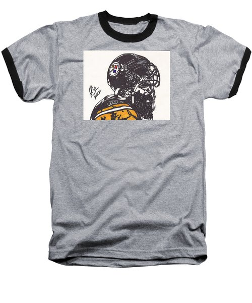 Baseball T-Shirt featuring the drawing Brett Keisel by Jeremiah Colley