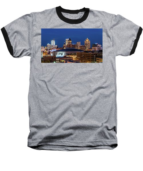 Brew City At Dusk Baseball T-Shirt