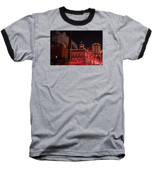 Brewery Lights Baseball T-Shirt by Steve Stuller